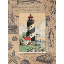 Matted Accents Light At Sea lighthouse counted ... - $9.90