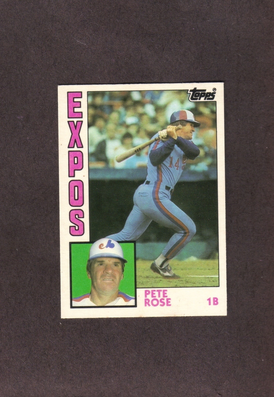 1984 Topps Traded # 103T Pete Rose Montreal Expos