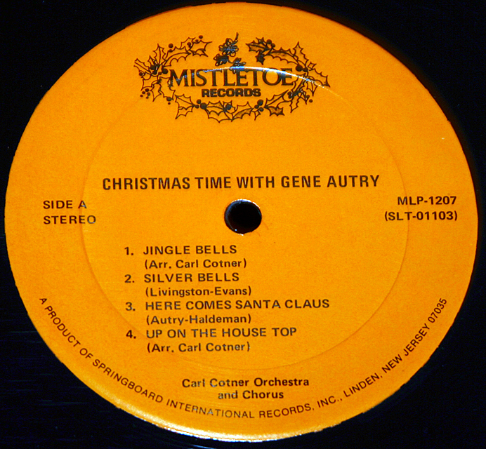 "Gene Autry ""Christmastime""    LP"