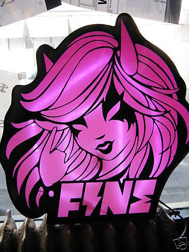 Fine D.O.E. Devil Girl neon advertising light sign