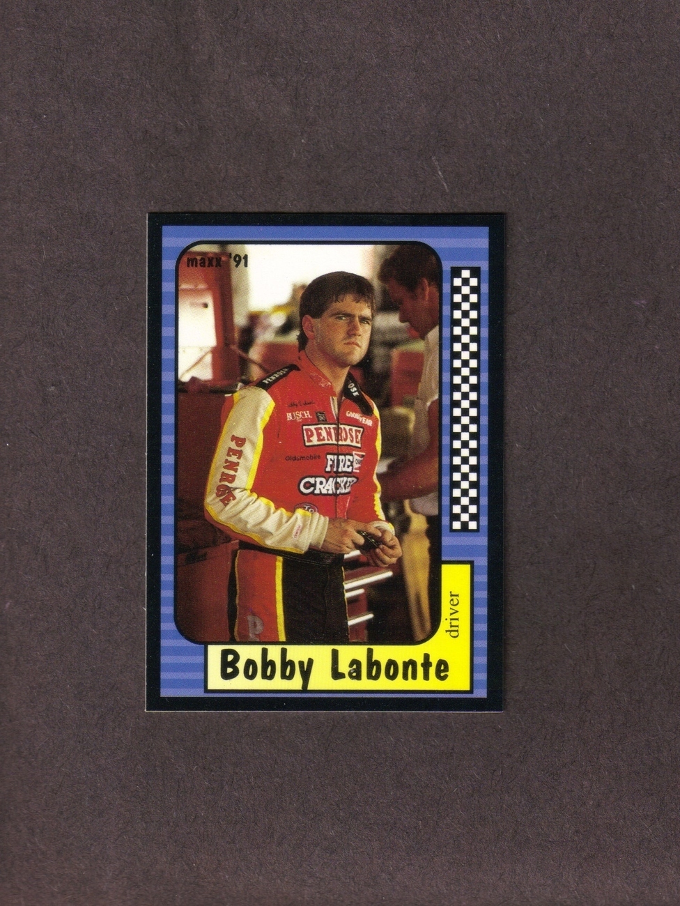 1991 Maxx # 53 Bobby Labonte Rookie Card