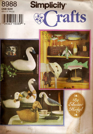 Simplicity Crafts 8988 Duck Fish Swan Water Fowl Birds Pattern
