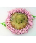 Victorian Style Hand Beaded Artistic Brooch 2 - $10.10