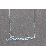 Sterling Silver Name Necklace - Name Plate - ALEXANDRA - $47.00