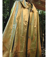 Couture D'abracci Amazing 50s 60s Gold Leather Cape VLV - $3,413.85