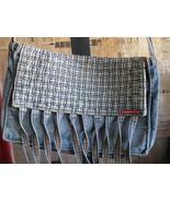 Miss Sixty Boho denim fringe hippy purse mini-messenger - $58.00
