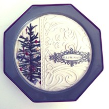 "Grasslands Road Christmas Plate Octagonal Xmas Tree Embossed ""Illuminate"" - $14.46"