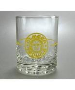 Olmeca Tequila Shot Glass Yellow Logo 2.5 ounce bubble base - $5.00