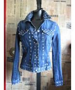 Jean Paul Gaultier JPG studded denim jeans levi jacket - $499.00