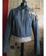 Voyage Passion plaid stud most wanted denim jacket L - $512.19