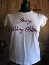 Juicy Couture Bling Bling T-shirt Kitson M - $27.85