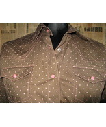 Rockabilly Western Country polka dot Stage shirt VLV S - $44.68