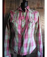 Rockabilly Psychobilly western plaid stage shirt VLV S - $44.68