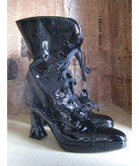 Chanel Louis heel patent lacquer leather boots 7 UK5 37 - $1,200.00