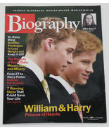 Biography Magazine November 2001 Prince William & Harry Cover - $6.50