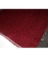 Jasper Burgundy Print Chenille Upholstery Fabric 1 Yd - $14.16