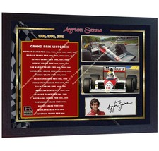 List of Formula One Grand Prix wins by Ayrton Senna signed autographed F... - $21.94