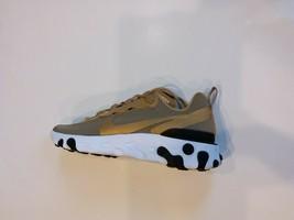 Nike React Element 55 Metallic Gold White Black Mens Size 8 Shoes BQ6166... - $90.00