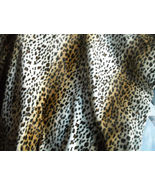 Beige Brown Leopard Print Upholstery Fabric  1 Yd - $18.08