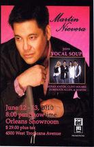 Martin Nievera @ Orl EAN S Showroom Vegas Promo Card - $1.95