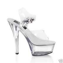 "6"" Stripper Pole Dancer Drag Tranny Burlesque shoes 14 - $72.58"