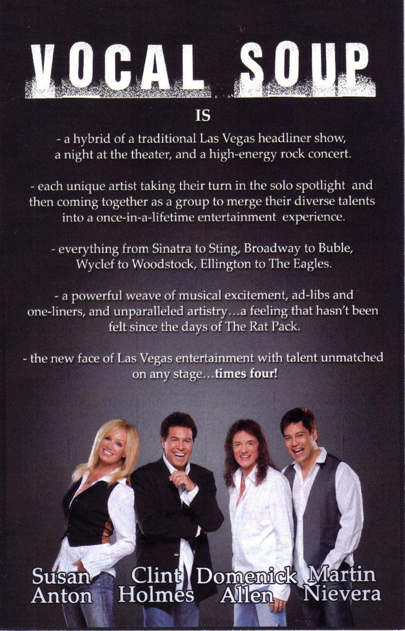 MARTIN NIEVERA  @ ORLEANS Showroom Vegas Promo Card