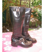 Fluevog motorcycle biker punk rocker boots 5 35 3UK - $279.22