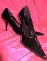 Stiletto high Heel pin up burlesque shoe 7 UK4.5 38 VLV - $54.23