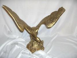 Vintage Brass  Eagle Spread Wings Sculpture Figurine Statue NICE - $75.00