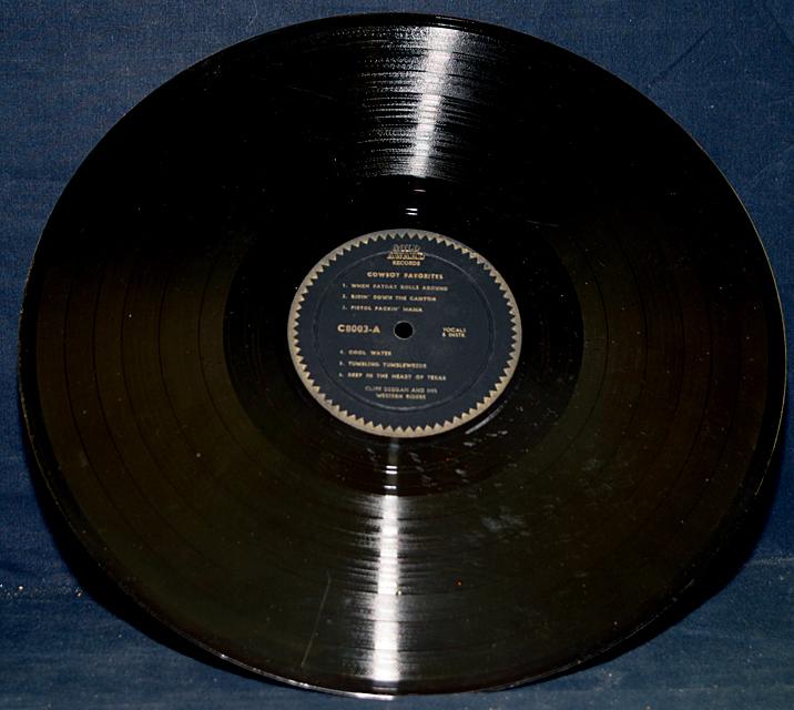 "Cliff Deegan And His Western Riders ""Cowboy Favorites""    LP"
