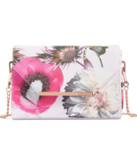 TED BAKER LONDON Neon Poppy Textured Bar Crossbody Bag New - $187.12 CAD