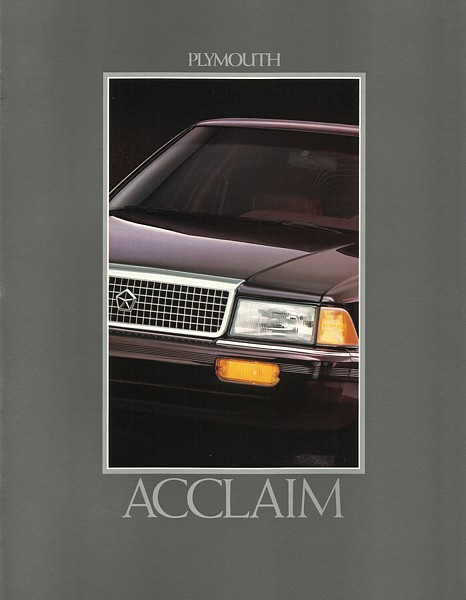 1992 Plymouth ACCLAIM sales brochure catalog US 92