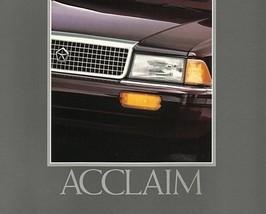 1992 Plymouth ACCLAIM sales brochure catalog US 92 - $6.00