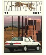 1991 Mercury TOPAZ brochure catalog US 91 GS LS LTS XR5 - $6.00