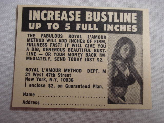 Primary image for 1969 Royal L'Amour Method Ad Increase Bustline Up to 5 Full Inches