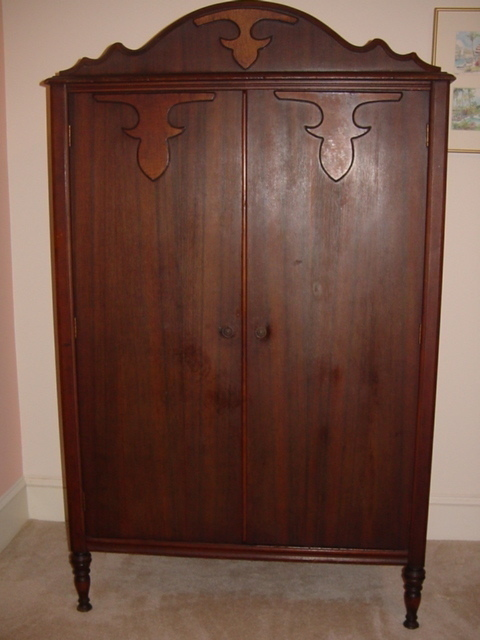 antique armoire wardrobe unknown. Black Bedroom Furniture Sets. Home Design Ideas