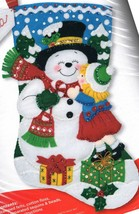 Bucilla Snowman Kisses Gifts Child Christmas Holiday Felt Stocking Kit 8... - $42.95