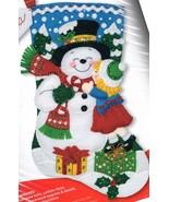 Bucilla Snowman Kisses Gifts Child Christmas Holiday Felt Stocking Kit 8... - $42.95