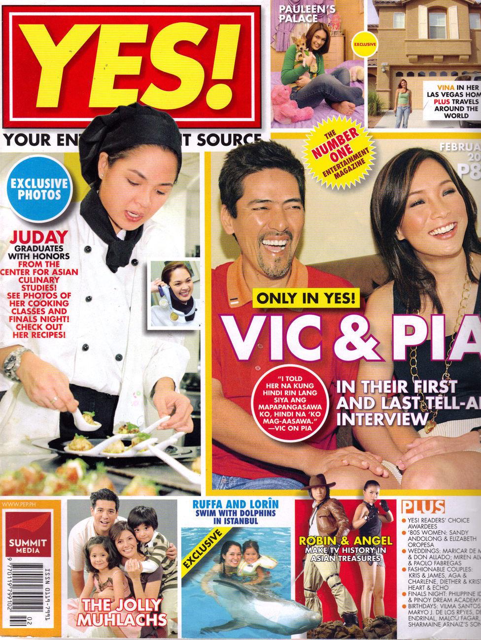 VIC SOTTO PIA GUANIO The MUHLACHS Sarah Geronimo @ YES Magazine