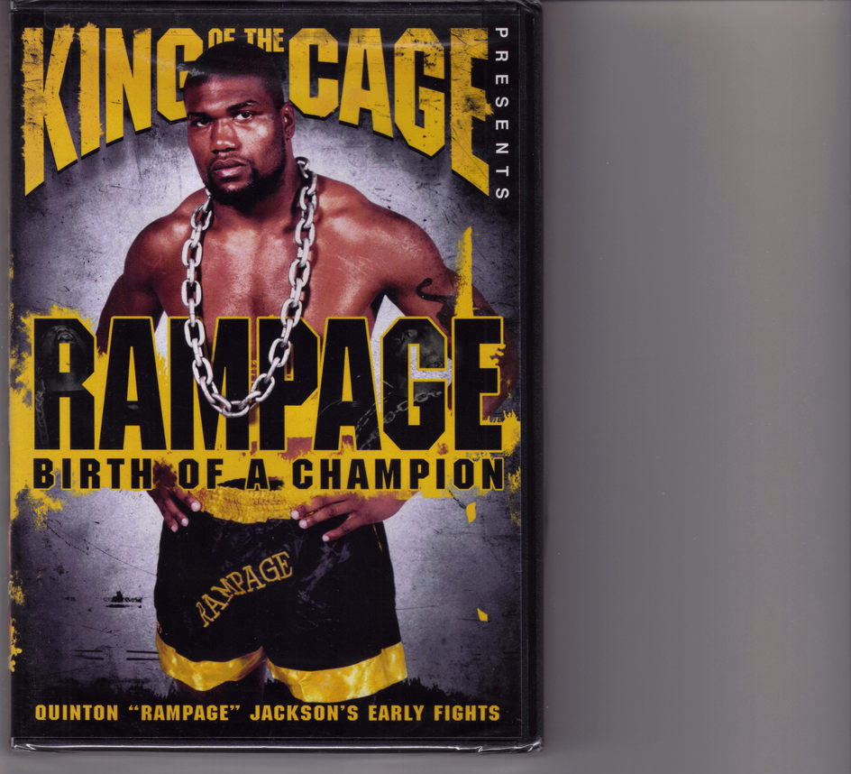"QUINTON ""RAMPAGE"" JACKSON Birth of A Champion DVD, Brand New"