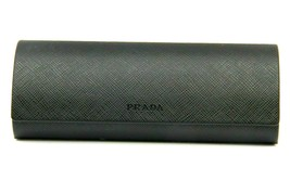 NEW PRADA EYEGLASSES EYEGLASSES OPTICAL HARD LEATHER SMALL BLACK CASE CA... - $31.43