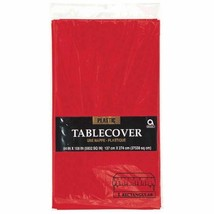 Apple Red Plastic Tablecover 54 x 108 Rectangle Christmas - $3.95