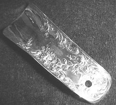 Sterling Shoe Horn NEW Art Nouveau Repousse Ornate Floral