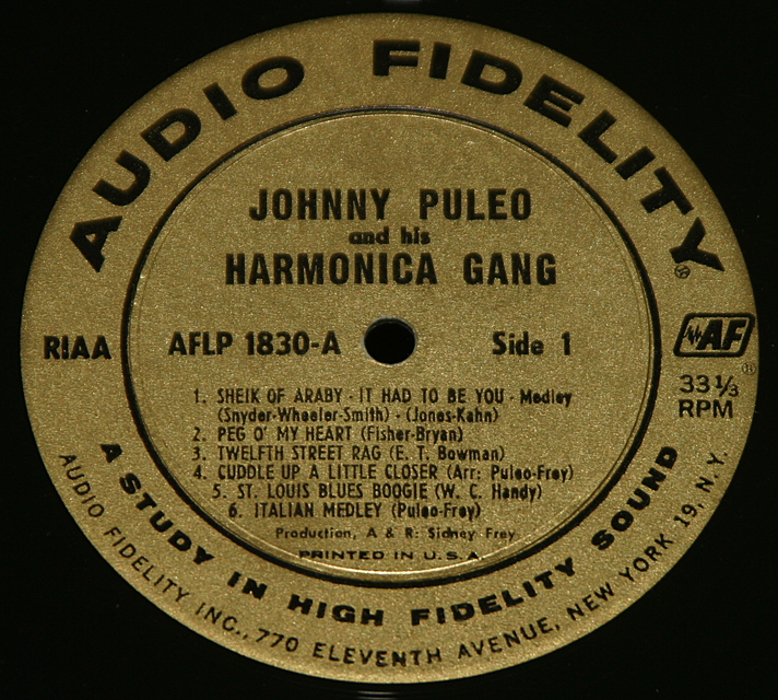 Johnny Puleo And His Harmonica Gang Vol. 4      LP