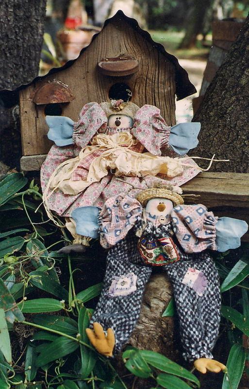 "Rhonda's Rag-Bag Buddies Tweetcakes 14"" Bluebirds & Clothing Pattern"