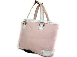 Authentic Burberry London Blue Label Pink Canvas Tote Bag BT13848L - $149.00