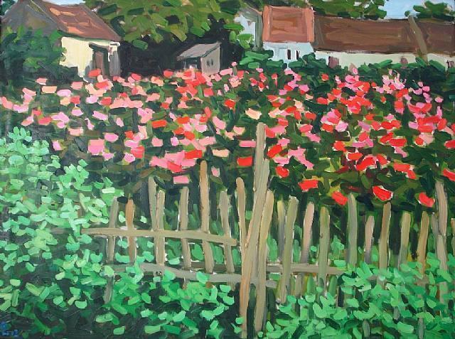 New year flower village