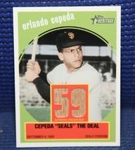 Orlando Cepeda Flashbacks Relic Card - 2008 Topps Heritage #FR-OC - $9.75