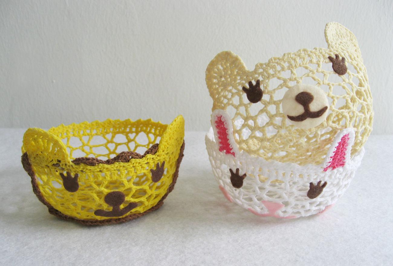 Animals crochet bowl b