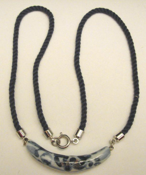 PORCELAIN & CORD NECKLACE